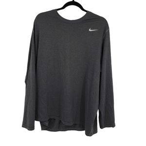 Nike Dri Fit Long Sleeve XXL Shirt Dark Grey